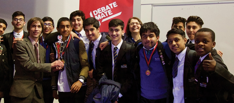 Intergen volunteer helps Burnage Boys win Regional debate cup